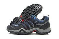 Кроссовки мужские Adidas Gore-Tex темно-синие с черным (адидас гортекс)