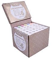 """Мелки школьные """"ЛК"""" (30 белых/6 цветных) круглые, в картонной коробке"""