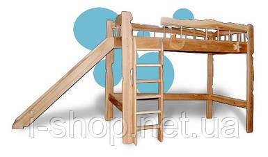 Кровать с горкой Пеппи