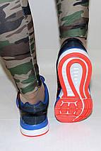 Кроссовки женские синие Nike Zoom сетка реплика, фото 3