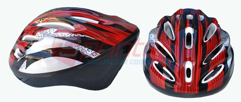 Защитный шлем для скейтбордистов, роллеров, велосипедистов. Цвет: красный.