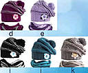 Комплект зимний: шапка с шарфом-хомутом  для девочки, фото 2