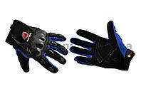 """Перчатки   """"SCOYCO""""   (mod:HD-12, size:L, синие, текстиль, карбон)"""