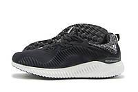 Кроссовки мужские Adidas AlphaBounce черные с белой подошвой (адидас альфабоунс)