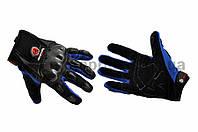 """Перчатки   """"SCOYCO""""   (mod:HD-12, size:M, синие, текстиль, карбон)"""