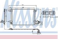 Радиатор кондиционера Skoda Octavia A5 2004-->2012 Nissens (Дания) 94684