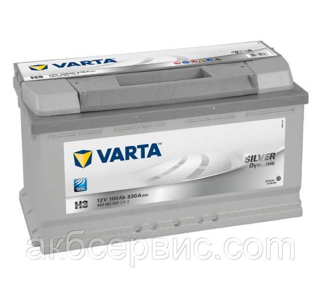 Акумулятор автомобільний Varta 6СТ-100 SILVER dynamic (H3)