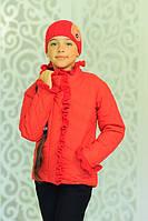 Укороченная куртка с шапкой в комплекте