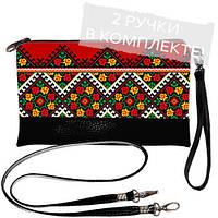 Женская сумочка клатч - Незабудка