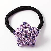 Резинка Звездочка с фиолетовыми камнями Сваровски
