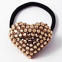 Резинка Сердце с камнями Сваровски