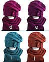 Комплект зимний: шапка с шарфом для девочки, фото 2