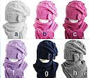 Комплект зимний: шапка с шарфом для девочки, фото 3