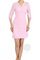 Красивый женский халат на запах нежно розового цвета, производство Турция.