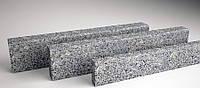 Бордюр серый Покостовского месторождения ГП-1 дорожный 300х150хL(600-1200) мм