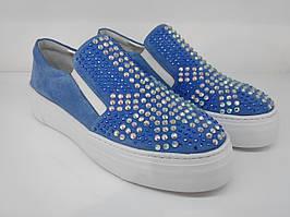 Слипоны Etor 5810-206-0259 36 голубые