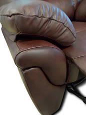 """Шкіряний диван """"ALABAMA"""" з реклайнером (199см), фото 3"""
