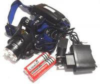 Налобный фонарь ультра-фиолет Police BL-204С-T6 28000W с