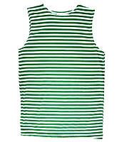 Тельняшка-майка в бело-зеленую полоску