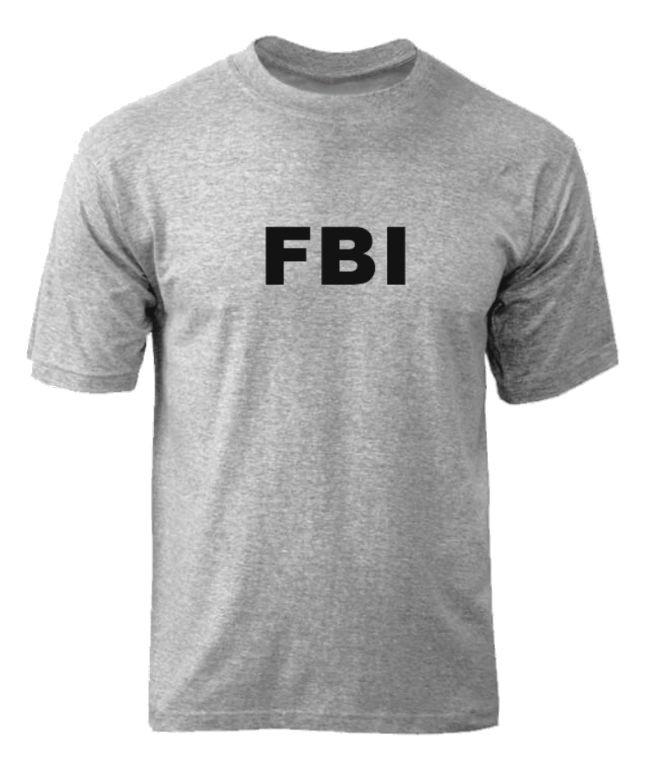 Футболка FBI - Gray