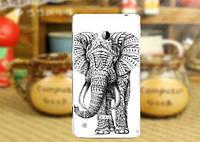 Чехол бампер из силикона для Nokia Lumia 720 с картинкой Слон