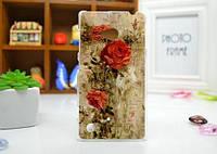 Чехол бампер из силикона для Nokia Lumia 720 с картинкой Розы