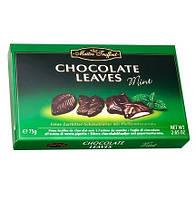 Конфеты Maitre Truffout Chocolate Leaves Mint, 75 г