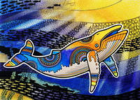 """Открытка """"Солнечный кит"""", фото 1"""