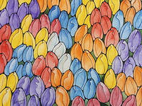 """Листівка для посткроссинга """"Мамині тюльпани"""""""