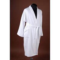 Махровый белый халат