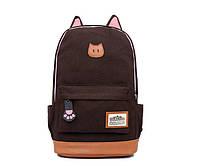 Рюкзак женский Котик (коричневый), фото 1