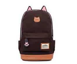 Рюкзак женский Котик (коричневый)