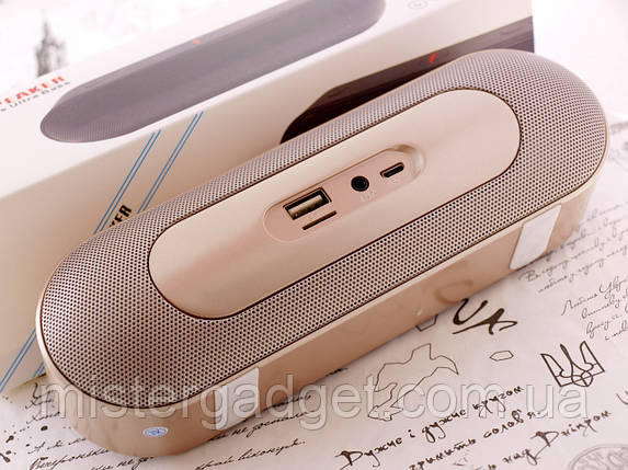 Колонка Beats Plus 6W Gold Bluetooth Mp3 MicroSD USB, фото 2