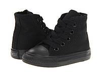 Детские кеды Converse Chuck Taylor All Star (конверс олл стар) высокие черные