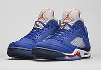 Мужские баскетбольные кроссовки Air Jordan Retro 5 low (Knicks), фото 1