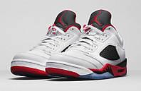 Мужские баскетбольные кроссовки Air Jordan Retro 5 low (Fire Red), фото 1