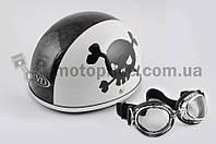 "Шлем-каска   ""TVD""   (mod:Skull) (size:L, бело-черный)"