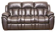 Шкіряний диван Boston, розкладний диван, реклайнер, м'який диван, меблі з шкіри, диван, фото 3