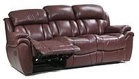 Мягкий кожаный диван с реклайнером Boston (200 см)
