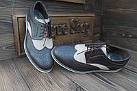 Мужские кожаные туфли броги Киев, made in Italy (новые)