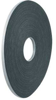 Уплотнительная шумоизоляционная лента Scapa 3099, черный цвет, 12мм х 25м х 3мм