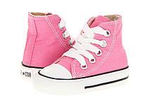 Детские кеды Converse Chuck Taylor All Star (конверс олл стар) высокие розовые