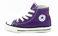 Детские кеды Converse Chuck Taylor All Star (конверс олл стар) высокие фиолетовые