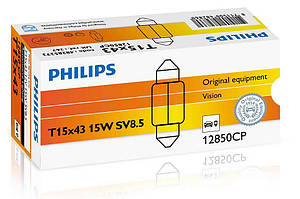 Автолампа Philips Vision, C15W - 43mm, 1шт., 12850VI