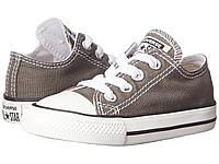 Детские кеды Converse Chuck Taylor All Star (конверс олл стар) низкие серые