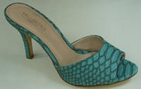 Сабо женские Vallenssia голубые на каблуке