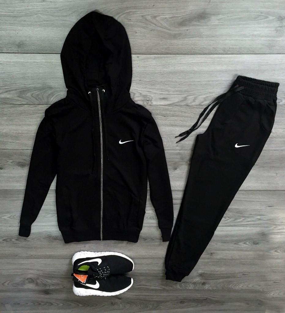 Спортивный костюм, трикотажный, черный