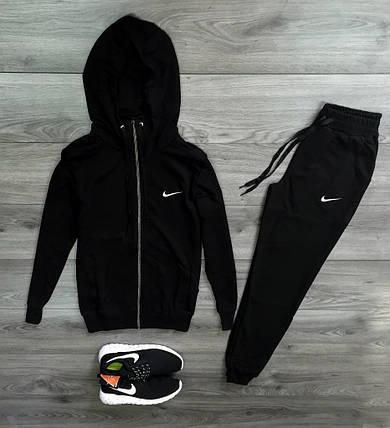 Спортивный костюм, трикотажный, черный, фото 2