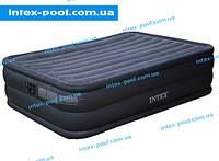 Надувная флокированна кровать  Intex 66718, темно-синяя
