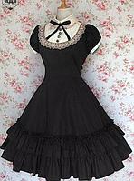 Платье Лолита. Женское черное платье. Подъюбник съемный.